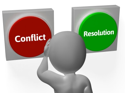 How do you resolve conflicts where you work?